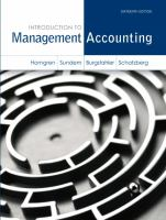 Cover image for Introduction to management accounting