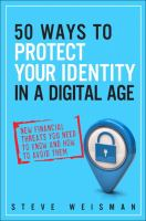 Cover image for 50 ways to protect your identity in a digital age : new financial threats you need to know and how to avoid them