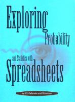 Cover image for Exploring probability and statistics with spreadsheets