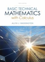 Cover image for Basic technical mathematics with calculus