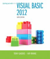 Cover image for Starting out with Visual Basic 2012