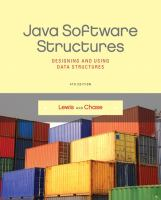 Cover image for Java software structures : designing and using data structures