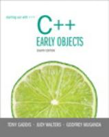 Cover image for Starting out with C++ : early objects