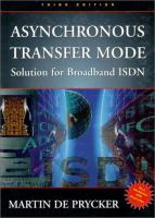 Cover image for Asynchronous transfer mode : solution for broadband ISDN