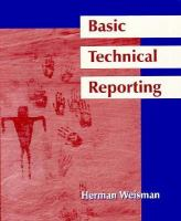 Cover image for Basic technical reporting