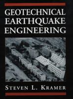 Cover image for Geotechnical earthquake engineering