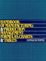 Cover image for Handbook of manufacturing and production management formulas, charts, and tables
