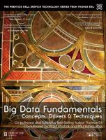 Cover image for Big Data Fundamentals : Concepts, Drivers & Techniques