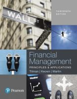 Cover image for Financial Management : Principles and Applications
