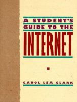 Cover image for A student's guide to the internet