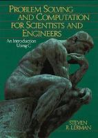 Cover image for Problem solving and computation for scientists and engineers : an introduction using C