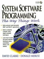 Cover image for System software programming : the way things work