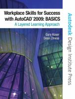 Cover image for Workplace skills for success with AutoCAD 2009 basics a layered learning approach