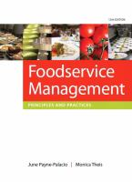 Cover image for Foodservice management : principles and practices