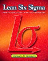 Cover image for Lean six sigma : process improvement tools and techniques