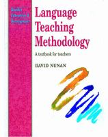 Cover image for Language teaching methodology : a textbook for teachers