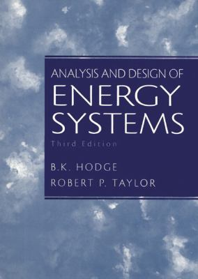 Cover image for Analysis and design of energy systems