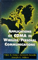 Cover image for Applications of CDMA in wireless/personal communications
