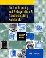 Cover image for Air conditioning and refrigeration troubleshooting handbook