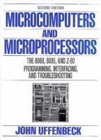 Cover image for Microcomputers and microprocessors : the 8080, 8085, and Z-80 : programming, interfacing, and troubleshooting