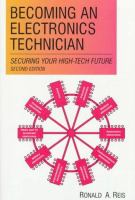 Cover image for Becoming an electronics technician : securing your high-tech future