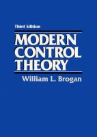 Cover image for Modern control theory