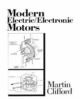 Cover image for Modern electric/electronic motors