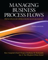 Cover image for Managing business process flows : principles of operations management