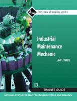 Cover image for Industrial maintenance mechanic : level three trainee guide
