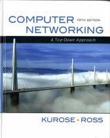 Cover image for Computer networking : a top-down approach