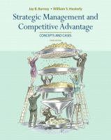 Cover image for Strategic management and competitive advantage : concepts and cases