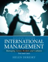 Cover image for International management : managing across borders and cultures : text and cases
