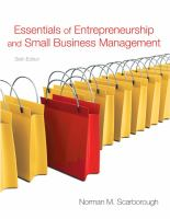 Cover image for Essentials of entrepreneurship and small business management