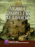 Cover image for Second generation mobile and wireless technologies