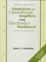 Cover image for Simulations for operational amplifiers using Electronics Workbench