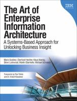 Cover image for The art of enterprise information architecture : a systems-based approach for unlocking business insight