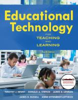 Cover image for Educational technology for teaching and learning