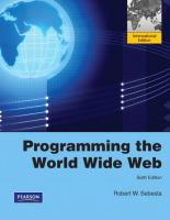 Cover image for Programming the world wide web