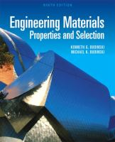 Cover image for Engineering materials : properties and selection