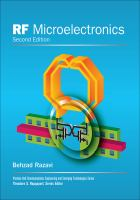 Cover image for RF microelectronics