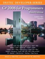 Cover image for C# 2008 for programmers