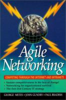Cover image for Agile networking : competing through the internet and intranets