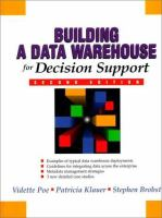 Cover image for Building a data warehouse for decision support