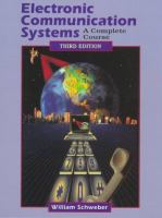 Cover image for Electronic communication systems : a complete course