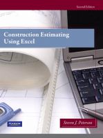 Cover image for Construction estimating using excel