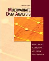 Cover image for Multivariate data analysis