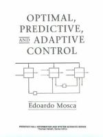 Cover image for Optimal, predictive, and adaptive control