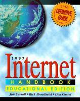 Cover image for 1997 internet handbook