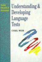 Cover image for Understanding and developing language tests