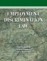 Cover image for Employment discrimination law problems, cases and critical perspectives